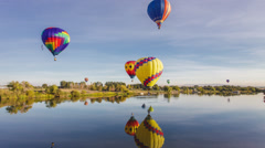 Prosser Hot Air Balloons Stock Footage