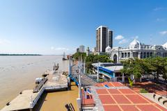 Guayaquil Waterfront Wide Angle Stock Photos