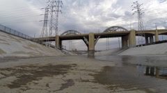 Los Angeles River Moving Shot - stock footage