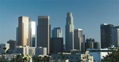 Downtown LA Skyline 2015 - stock footage