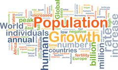Population growth background concept - stock illustration
