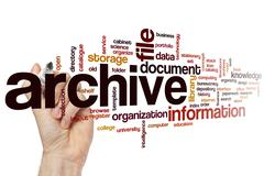 Archive word cloud Stock Photos