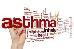 Asthma word cloud - stock photo