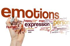 Stock Photo of Emotions word cloud