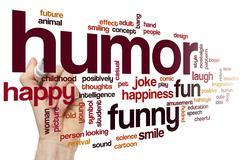Humor word cloud - stock photo