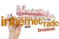 Internet radio word cloud Stock Photos