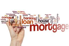 Mortgage word cloud Stock Photos