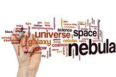 Nebula word cloud - stock photo