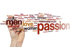 Passion word cloud Stock Photos