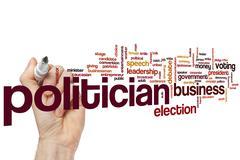 Politician word cloud Stock Photos