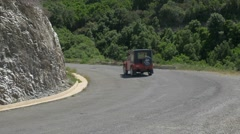 Cruising Jeeps Convoy, Corsica Stock Footage