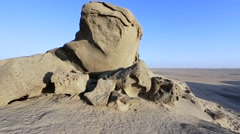 Rock formation in Namib desert in sunset, landscape Stock Footage