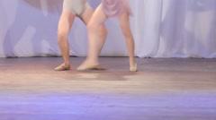 Ballet pair feet Stock Footage