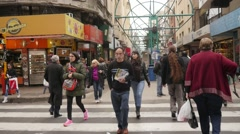 Across the Velez Sarsfield, Cordoba, Slow Motion Stock Footage