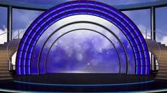 Entertainment TV Studio Set 22 - Virtual Green Screen Background Loop Stock Footage