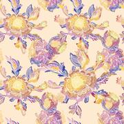 Creative Vector Floral Vignette Pattern - stock illustration