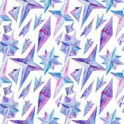 Magic Watercolor Pattern Stock Illustration