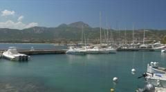 Calvi Harbor, Promenade, Corsica Stock Footage