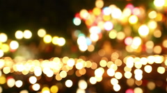 De focused, bokeh or blur candle lighting abstract background Stock Footage