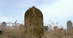 Medieval islmic tomb stone Stock Footage