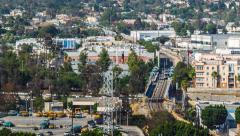 Aerial timelapse of Northeast Los Angeles cityscape. - stock footage