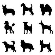Stock Illustration of Dogs silhouettes