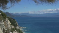 Viewpoint at Nonza, Corsica Stock Footage