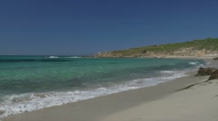 Beautiful Beach at Lumio, Corsica Stock Footage