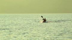 Rowing Kayak Stock Footage