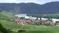 Village in Wachau in Austria Stock Footage