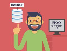 Information recovery and data backup - stock illustration
