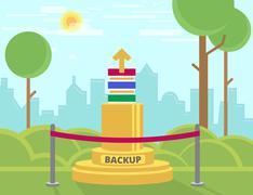 Data backup monument Stock Illustration