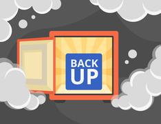 Stock Illustration of Information recovery and data backup