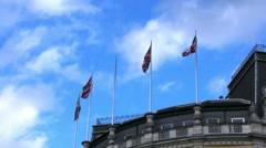 British flags waving in the wind Stock Footage
