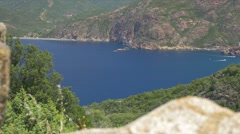 View on Porto, Corsica Stock Footage