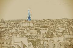 Eiffel Tower Stock Illustration