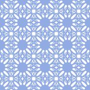 Floral seamless pattern blue color - stock illustration