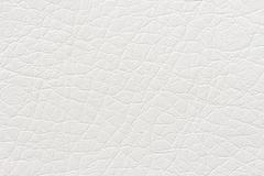 Synthetic white leather texture or background - stock photo