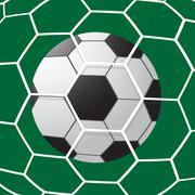 Soccer Goal - stock illustration