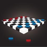 Checkers board Stock Illustration