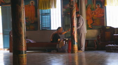 Local people in temple Chua Ma Toc, Soc Trang, Vietnam. Stock Footage