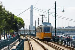 Tramway in Budapest Stock Photos