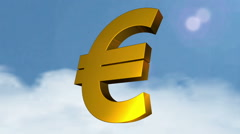 3d currency symbols (Euro) Stock Footage