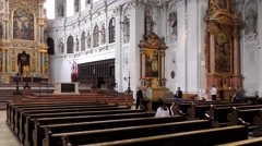 Michaelskirche (St. Michaels Church) in Munich, Germany Stock Footage