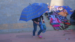 Street scene, Sa Pa, Vietnam. Stock Footage