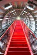 Red stairway sucessful concept - stock photo