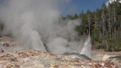 Steamboat Geyser close eruption Yellowstone Park 4K Stock Footage
