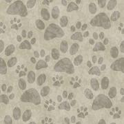 Brown Dog Paw Prints Tile Pattern Repeat Background - stock illustration