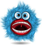 blue monster - stock illustration