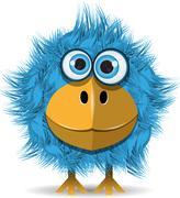 Funny blue bird Piirros